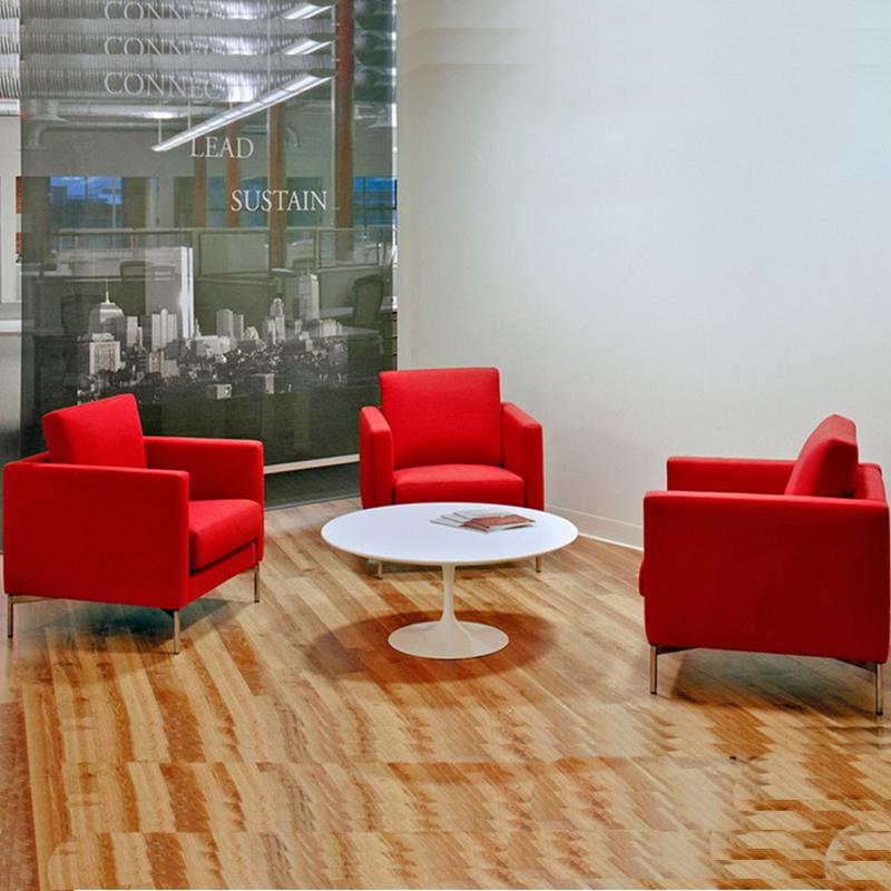 长沙发椅家具办公室会议洽谈单人会客接待休闲商务沙发