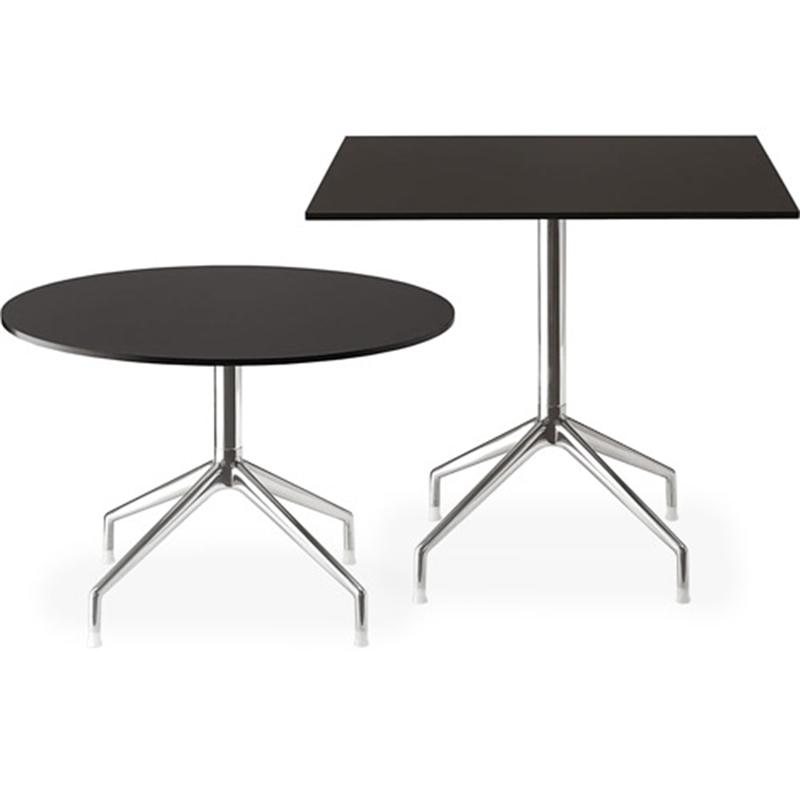 意大利 铁脚圆桌北欧餐桌现代简约饭桌餐厅吧台黑圆桌子