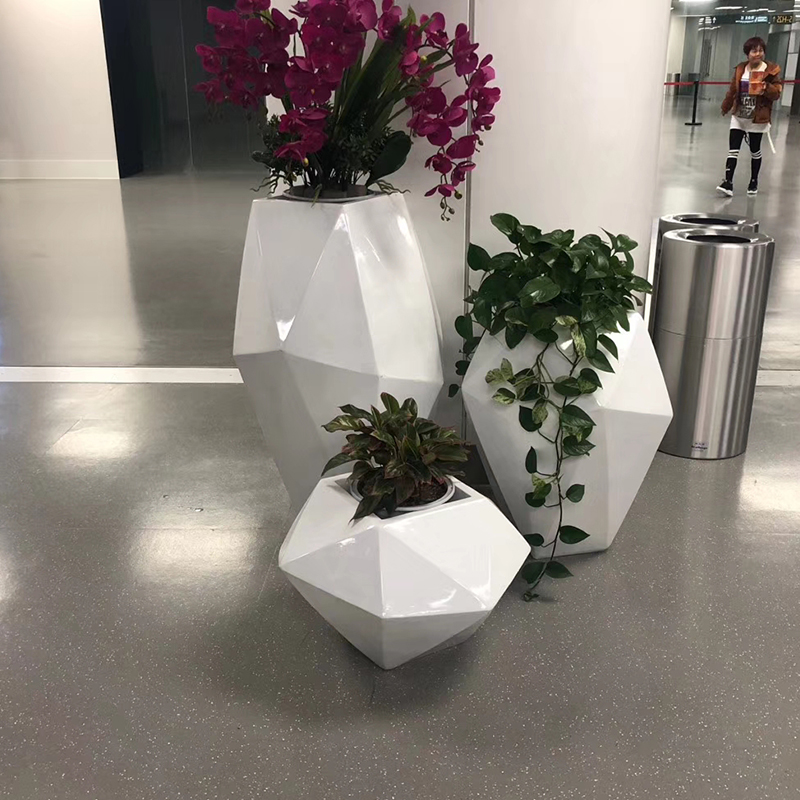 几何异形玻璃钢花瓶摆件饰品艺术品美陈装饰组合现代简约