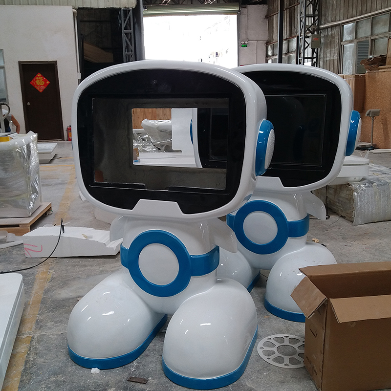 智能机器人外壳大型玻璃钢摆件样板房酒店门口广场商场科教室均可摆放