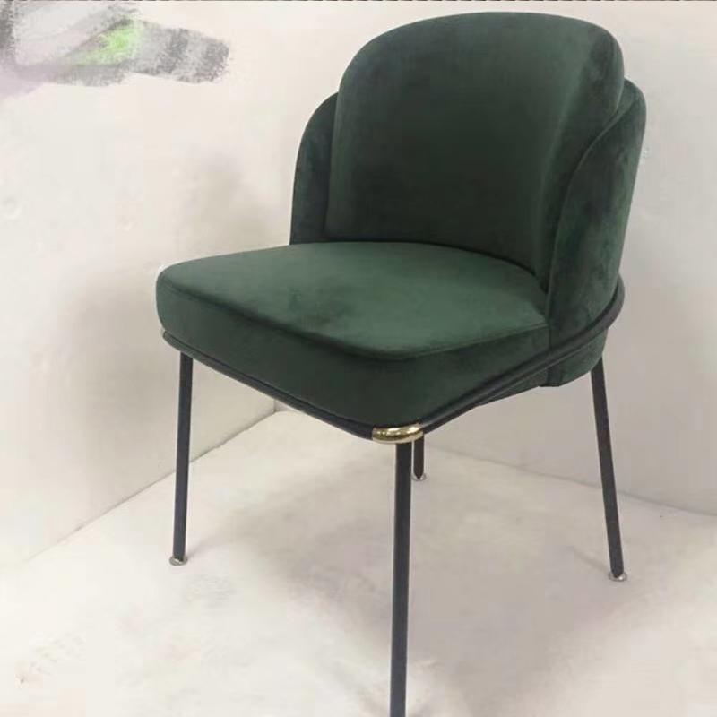 后现代轻奢意式餐椅 靠背沙发椅酒店别墅会所餐厅椅咖啡店售楼处样板房休闲椅