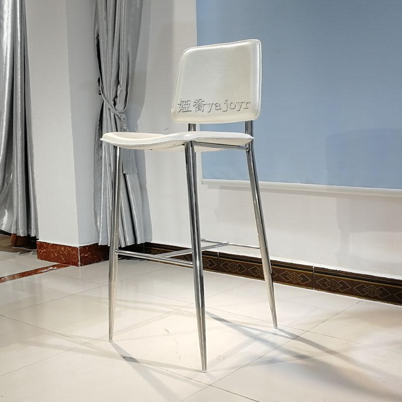 网红吧台椅北欧铁艺酒吧椅吧凳现代简约椅子不锈钢高脚凳 吧台椅
