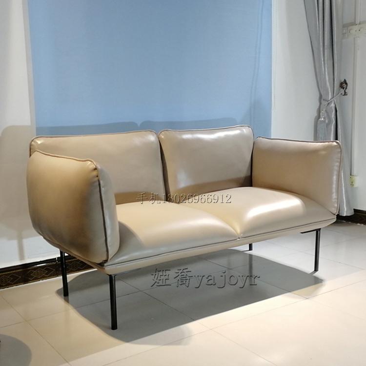 北欧轻奢小户型布艺简约后现代极简风格设计师布艺沙发组合双人位
