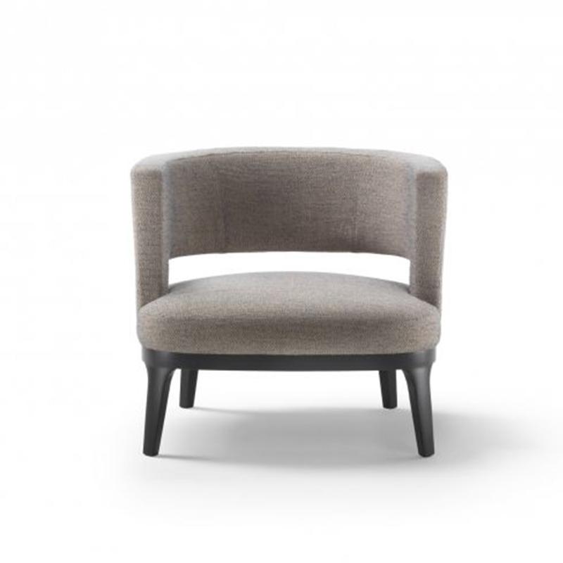 现代简约书椅新古典轻奢单人休闲沙发椅售楼处样板房酒店会所客厅休闲椅