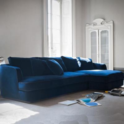 意式极简布艺沙发客厅现代简约布沙发北欧轻奢风格欧美沙发客厅酒店会所别墅样板房