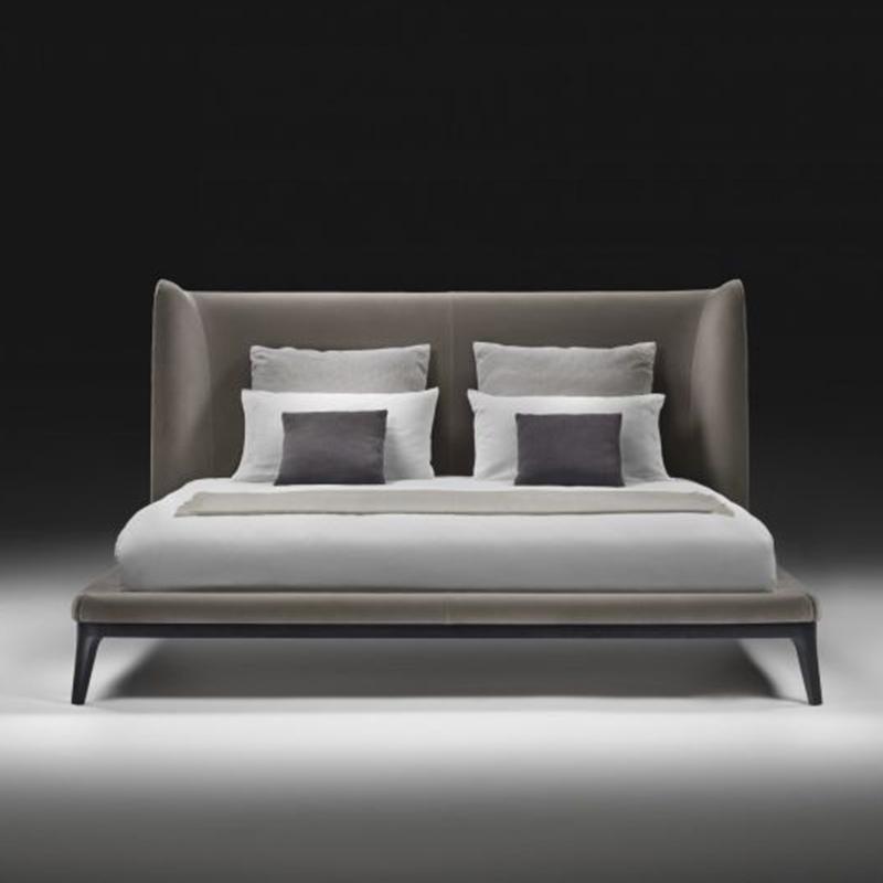 北欧风格布艺床现代简约北欧床大床房双人床主卧床婚床日式混搭风家具