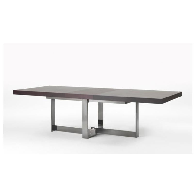 美式全实木轻奢不锈钢金属长方形餐桌吃饭桌定制现代简约餐台大户型别墅古典轻奢长餐桌
