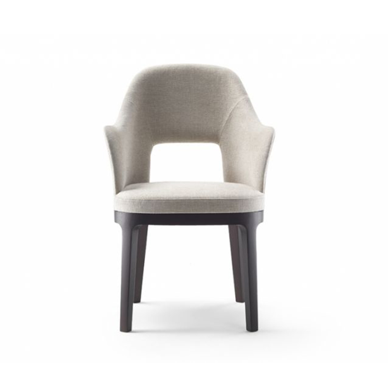后现代简约布艺餐椅古典轻奢单人休闲椅餐椅办公室洽谈椅梳妆椅电脑椅休闲书椅