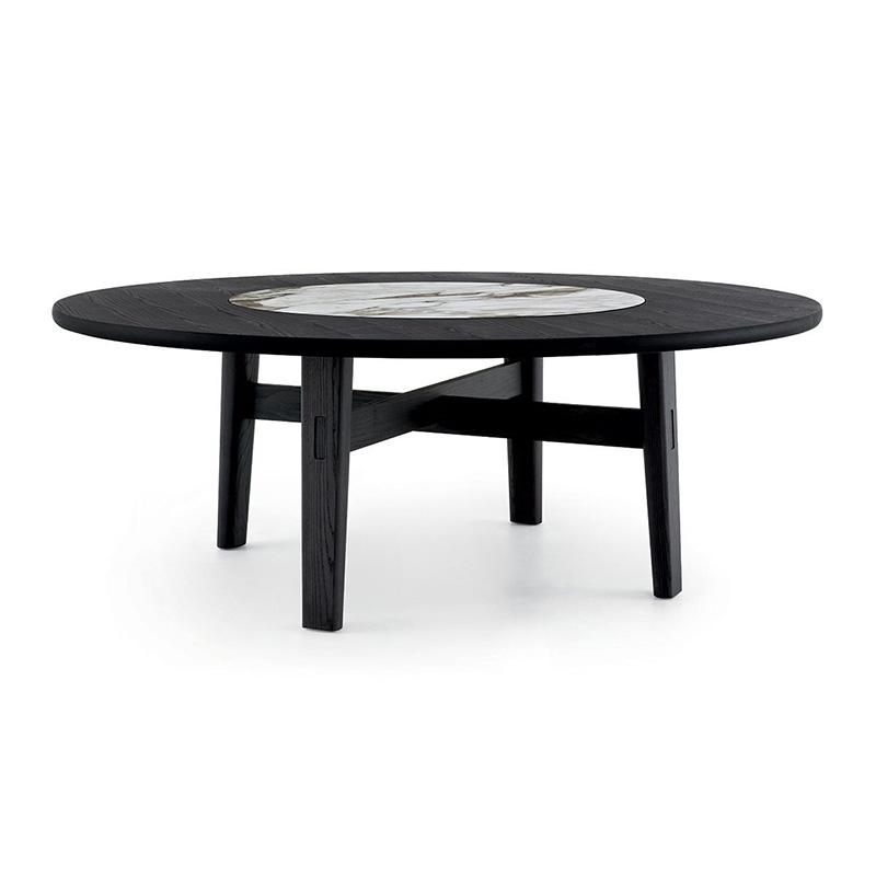 家庭旅馆桌美式简约大理石餐桌北欧现代设计师中式圆餐桌