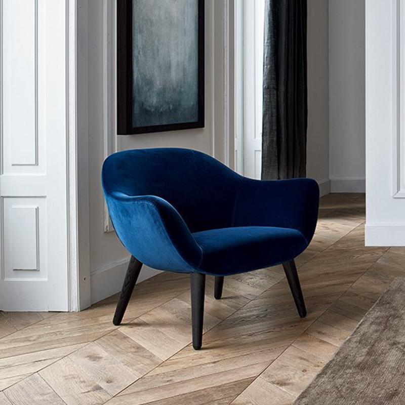 轻奢高端定制家具Poliform意大利现代实木北欧美式布艺单人沙发椅