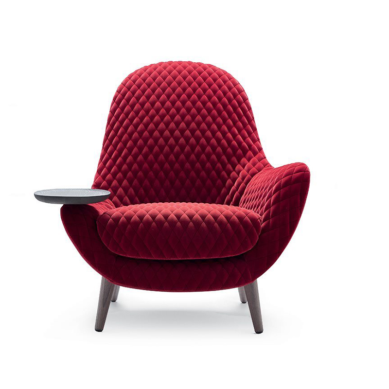 玻璃钢休闲沙发椅单人休闲躺椅创意沙发椅扶手带托盘酒店餐椅售楼处酒店公寓客厅