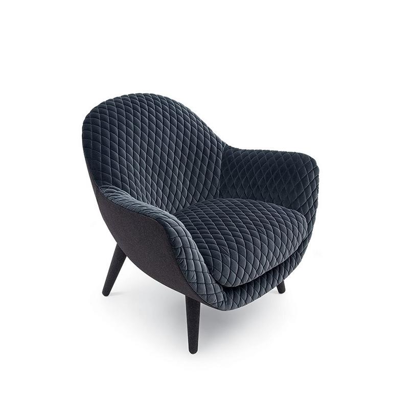 设计师客厅北欧风单人休闲椅 现代简约布艺沙发椅 阳台创意定制休闲椅酒店公寓样板房卧室