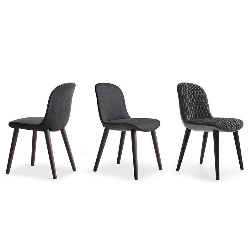 北欧现代简约布艺皮革餐椅 疯狂餐椅休闲椅餐厅酒店公寓客厅样板房