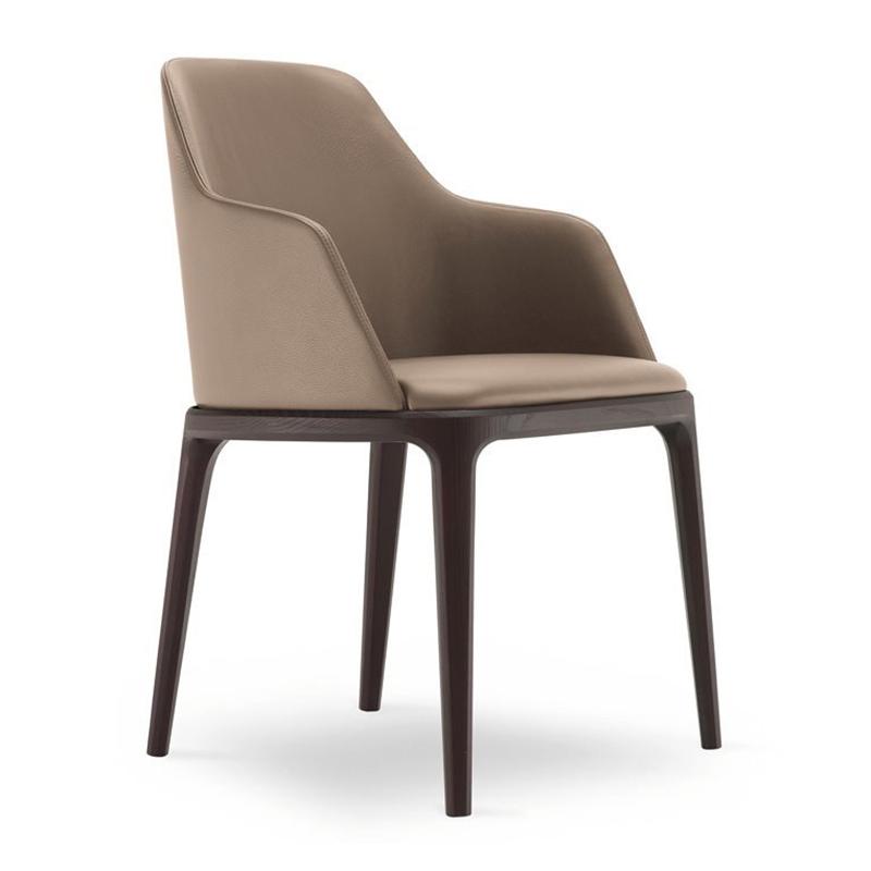 实木餐椅现代简约布艺扶手椅靠背休闲餐厅家用北欧餐桌椅酒店椅子