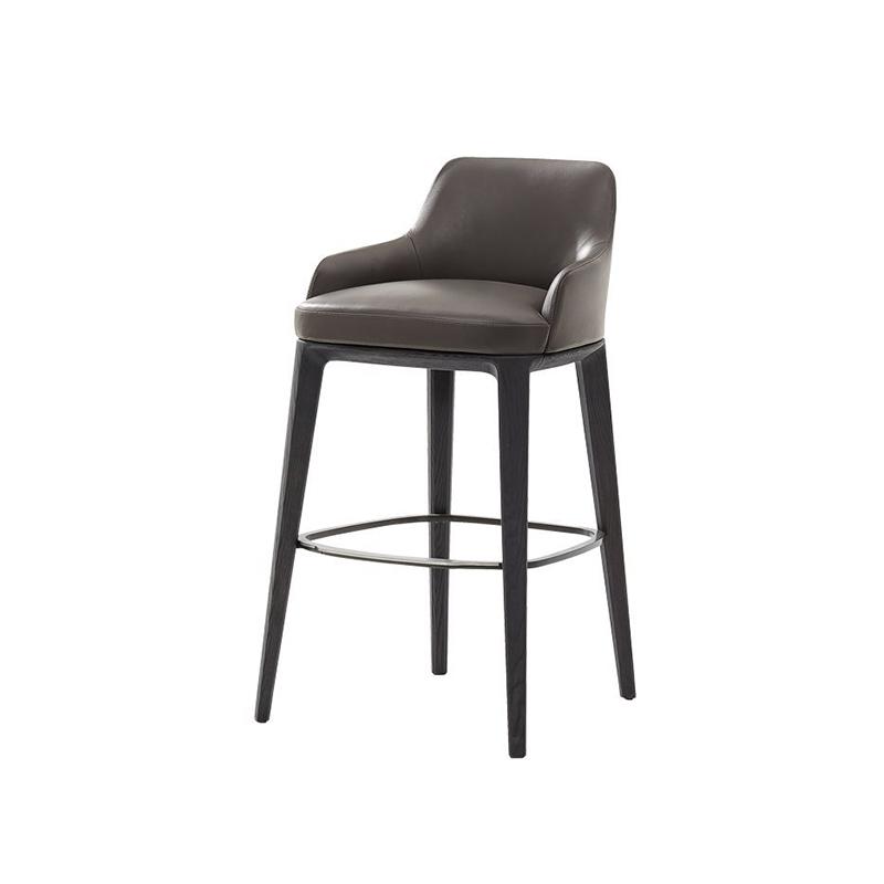 北欧铁艺轻奢吧椅现代时尚酒吧椅高吧凳前台接待椅子美式吧台椅