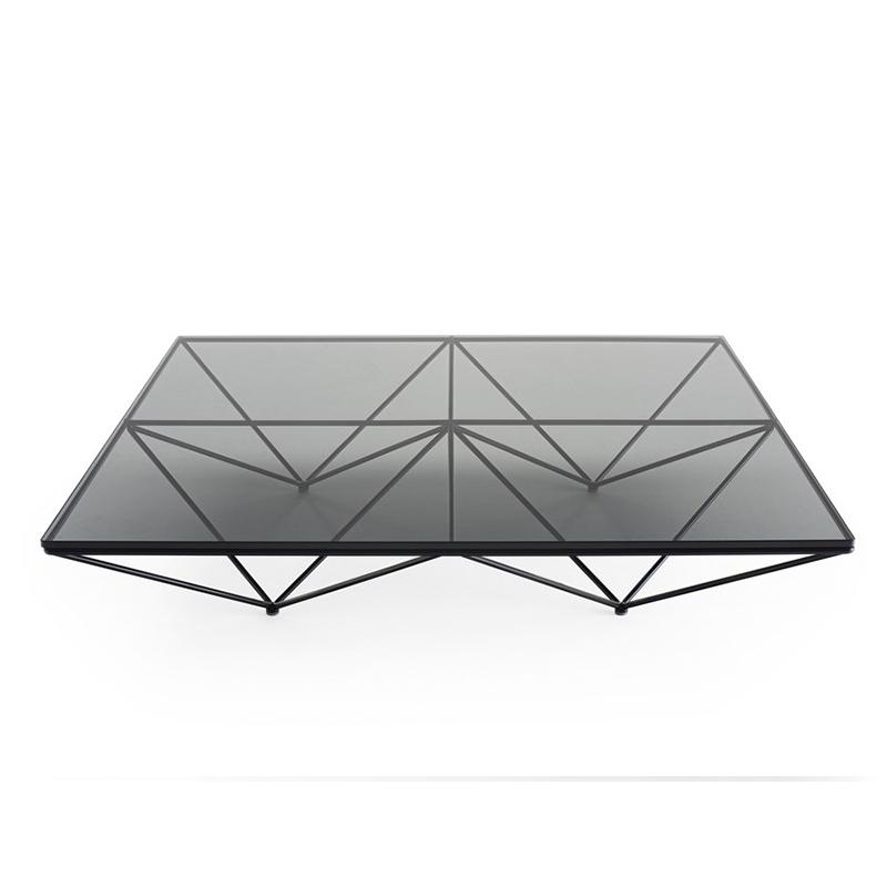 钢化玻璃茶几铁艺小户型简约客厅桌子正方形茶桌现代极简设计