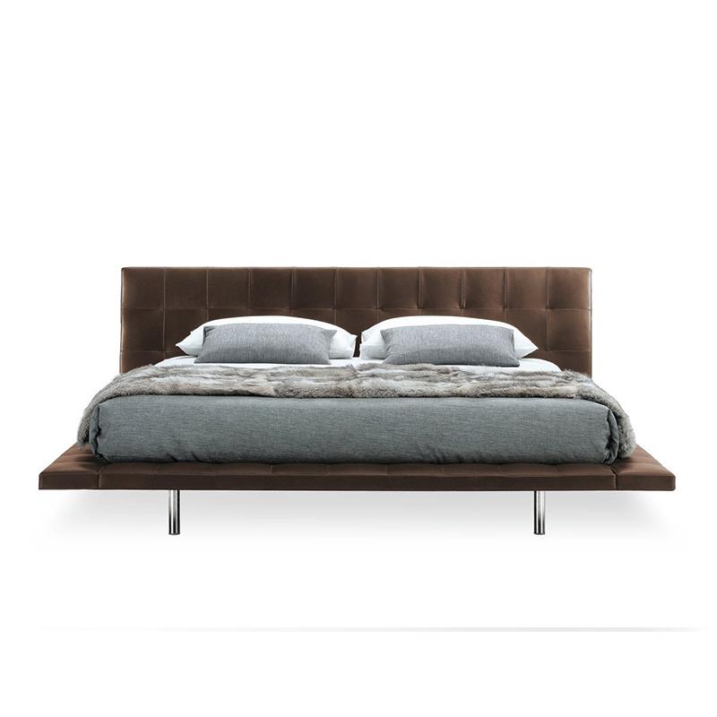 北欧布艺床1.8米现代双人床创意皮艺床设计师简约风格高端家具大床房