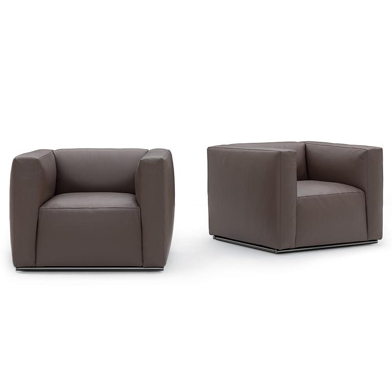 北欧意式单人沙发 现代简约轻奢大小户型样板房酒店公寓客厅