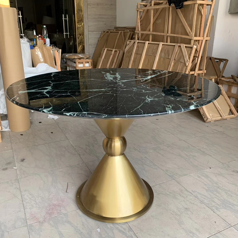 后现代简约大理石餐桌时尚北欧风餐桌不锈钢饭厅桌洽谈桌