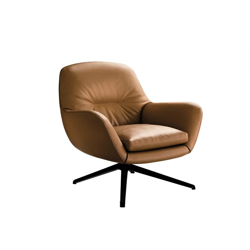 轻奢设计师詹森沙发椅格调别墅酒店布艺单人沙发休闲老虎躺椅