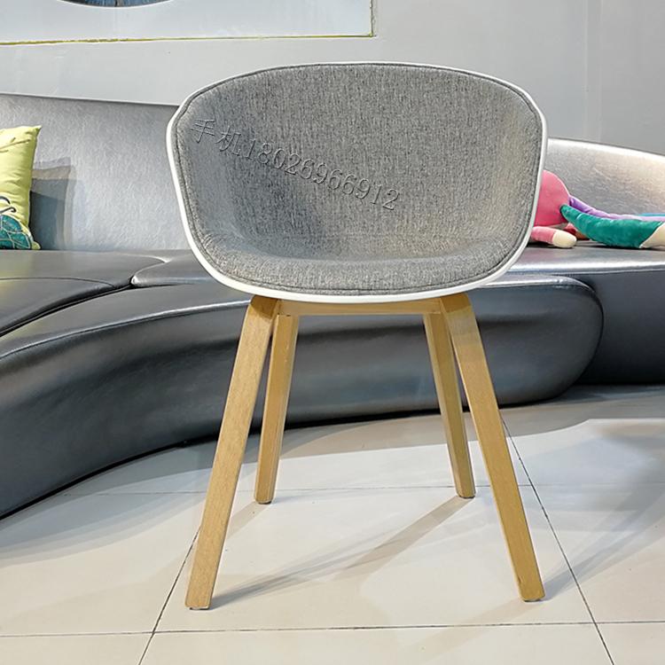 靠背椅 HEY 餐椅 网红椅 北欧 设计师休闲椅 餐厅 椅现代简约书桌椅客厅椅