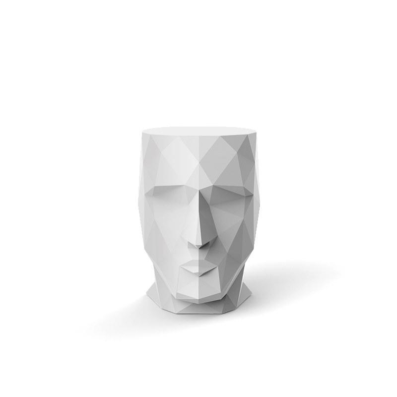 简约现代雕塑装饰品玻璃钢人形茶几餐厅酒店会客接待个性时尚人头型桌子