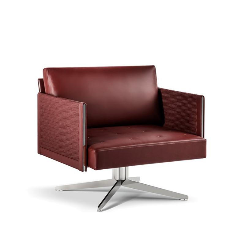北欧安乐休闲椅poltrona frau Clayton系列布艺皮革单人休闲沙发椅