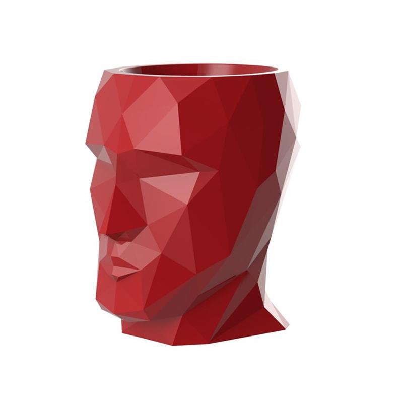 简约现代花瓶雕塑装饰品玻璃钢人形茶几餐厅酒店会客接待个性时尚人头型桌子