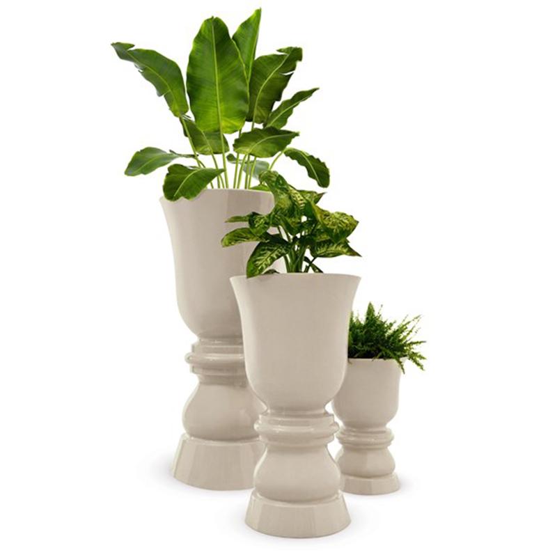 温和花园落地大花瓶套装欧式客厅装饰摆件玻璃钢花瓶商场大厅KTV售楼部仿真插花