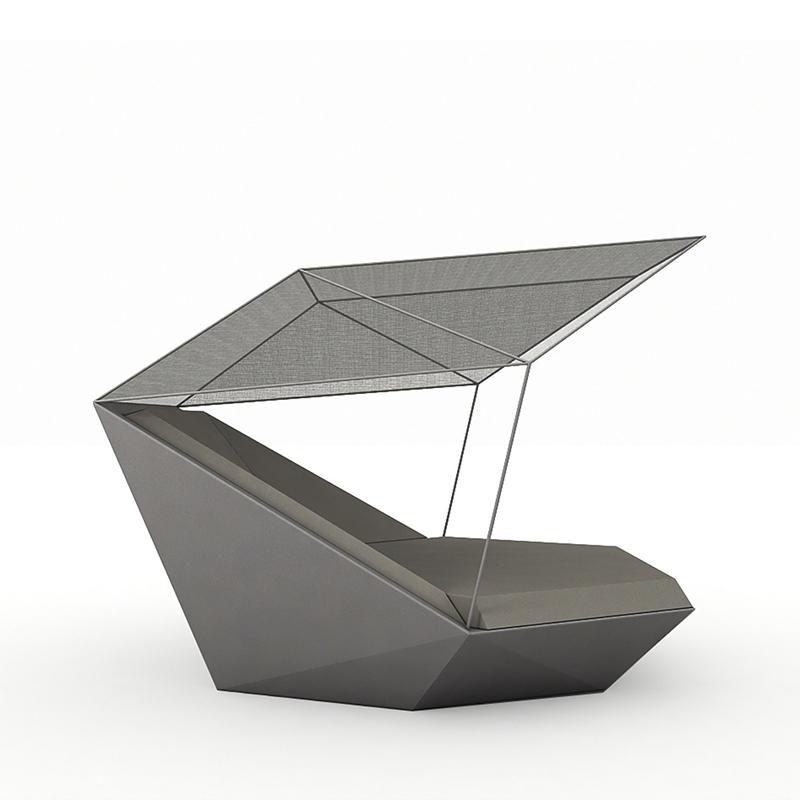 花园床玻璃钢休闲躺椅简约现代户外沙滩游泳池别墅玻璃钢异形躺椅