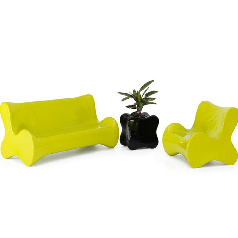 经典时尚玻璃钢多人沙发椅卧室客厅休闲组合沙发商业办公室户外大厅公共区域摆放