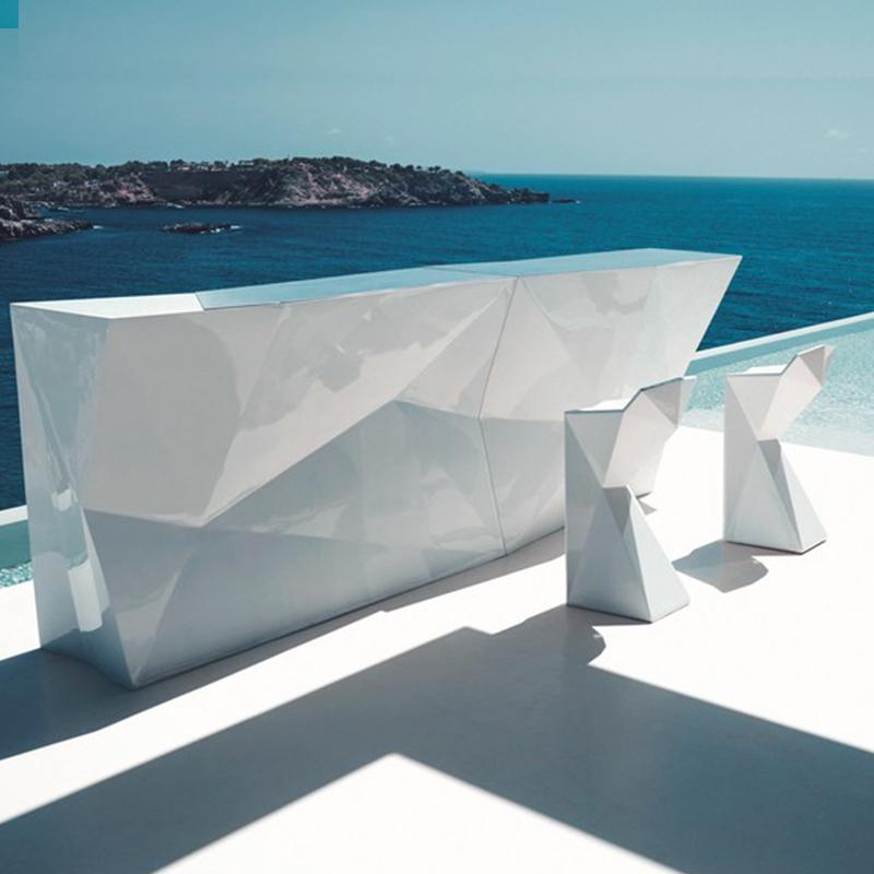 顶点凳子玻璃钢简约菱形办公椅子会议椅子餐椅户外公共休息区接待洽