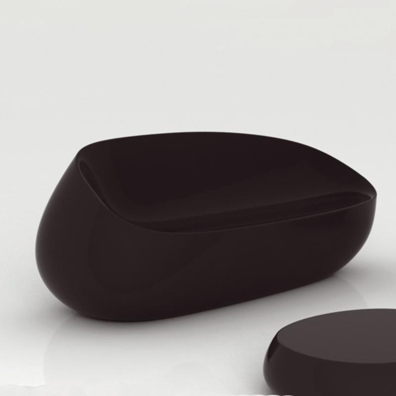 石头沙发玻璃钢户外新款玻璃钢座椅商场简约时尚创意家具装饰组合