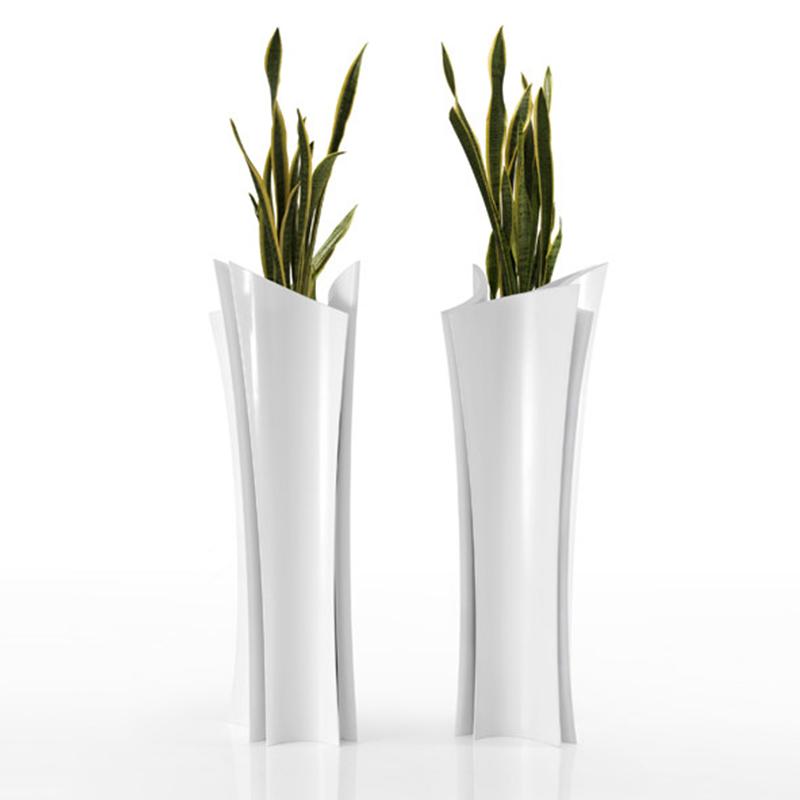 阿尔玛花瓶户外玻璃钢菱形花盆组合商场定制创意大花瓶摆件客厅插花现代简约