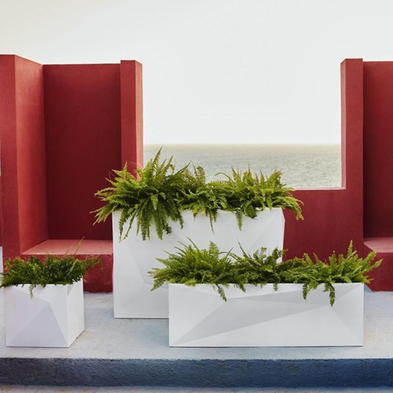 玻璃钢花盆组合户外大号商场长方形菱形花器美陈落地玻璃钢花箱