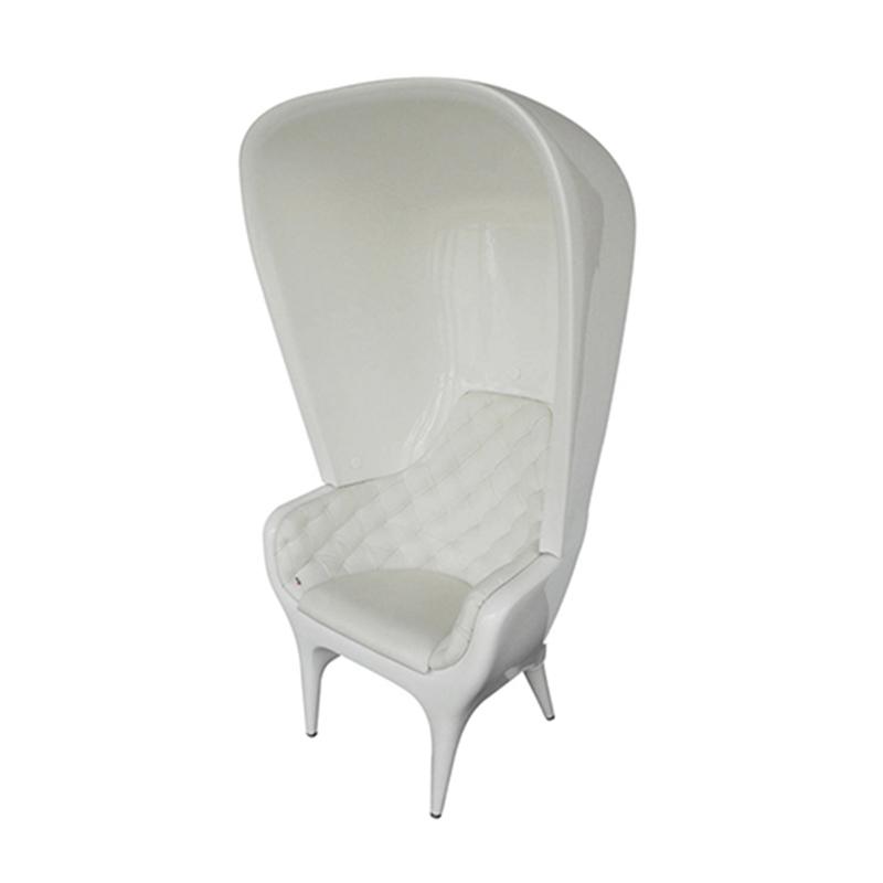 Poltronas Showtime头巾扶手椅玻璃钢高帽椅别墅高档休闲椅户外高背椅设计师扶手椅售楼处接待椅