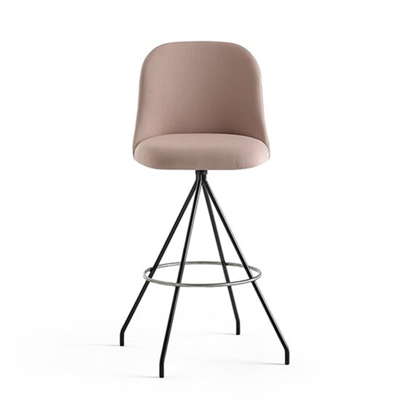 Aleta Swivel 吧椅不锈钢吧台椅创意酒吧椅 靠背吧椅简约现代KTV酒吧凳 高脚椅