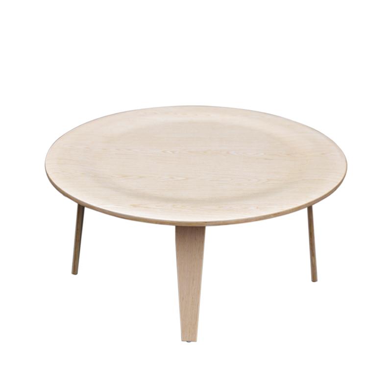 北欧现代简约圆形实木茶几小户型客厅迷你创意阳台休闲茶几可定制