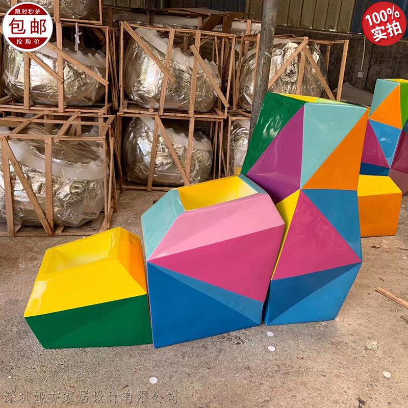 玻璃钢异形玩耍安全沙发组合积木阶梯式儿童主题乐园 个性定制