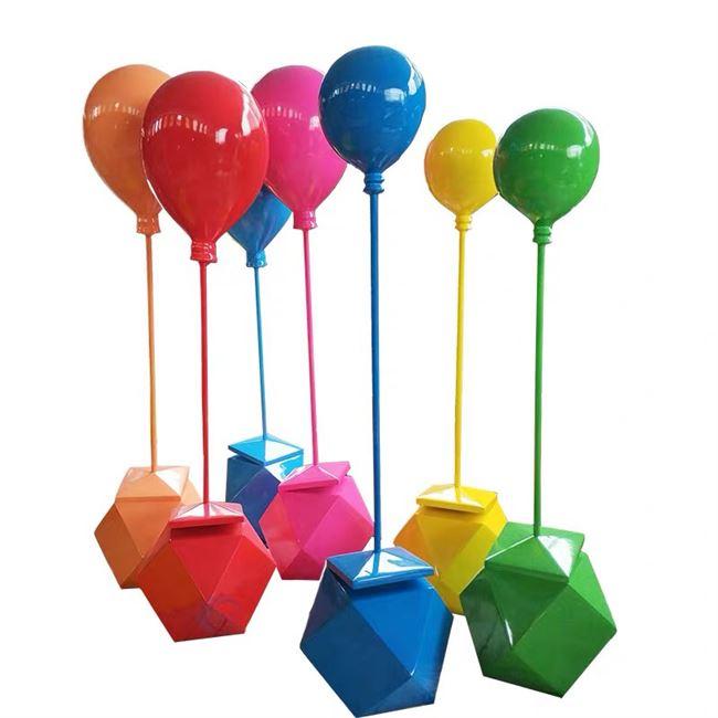 休息座椅室外玻璃钢美陈雕塑卡通糖果商场凳子节日摆件仿真气球