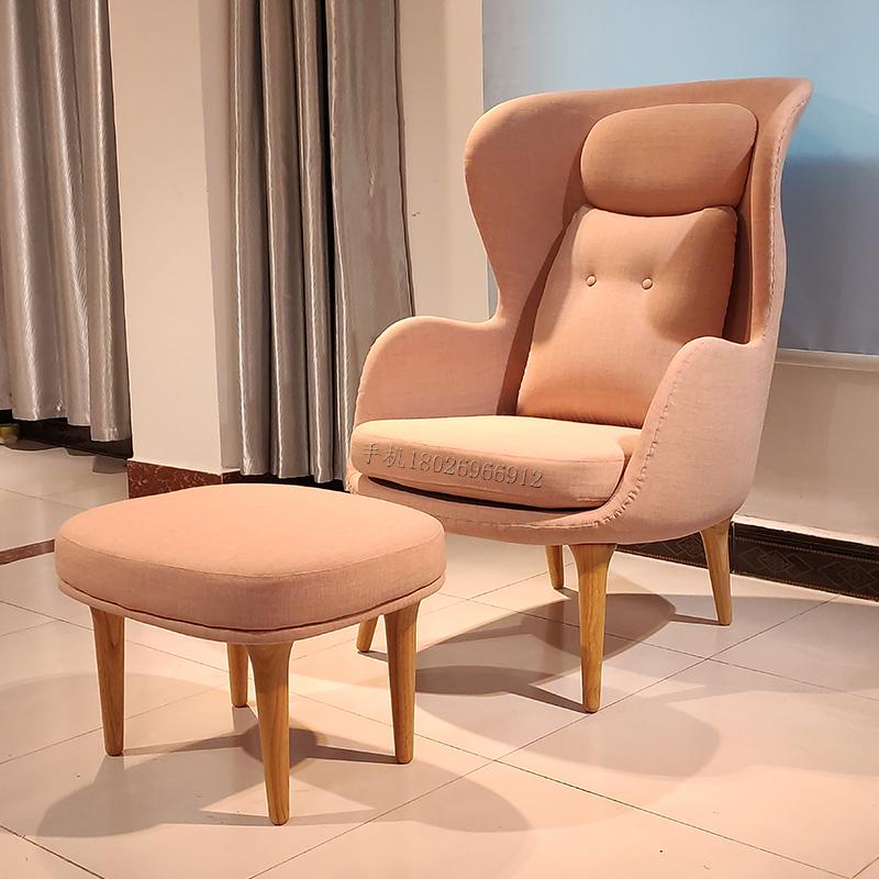 单人沙发休闲椅客厅单人休闲老虎椅现代简约懒人椅躺椅家用酒店别墅高端会所北欧蜗牛椅