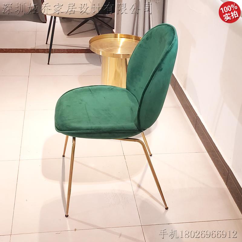 现货北欧风甲壳虫餐椅 现代简约休闲咖啡厅餐厅椅 个性创意椅酒店 公寓餐厅样板房