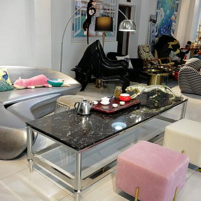 大理石304不锈钢框架现代简约电视柜茶几配套装组合客厅定制