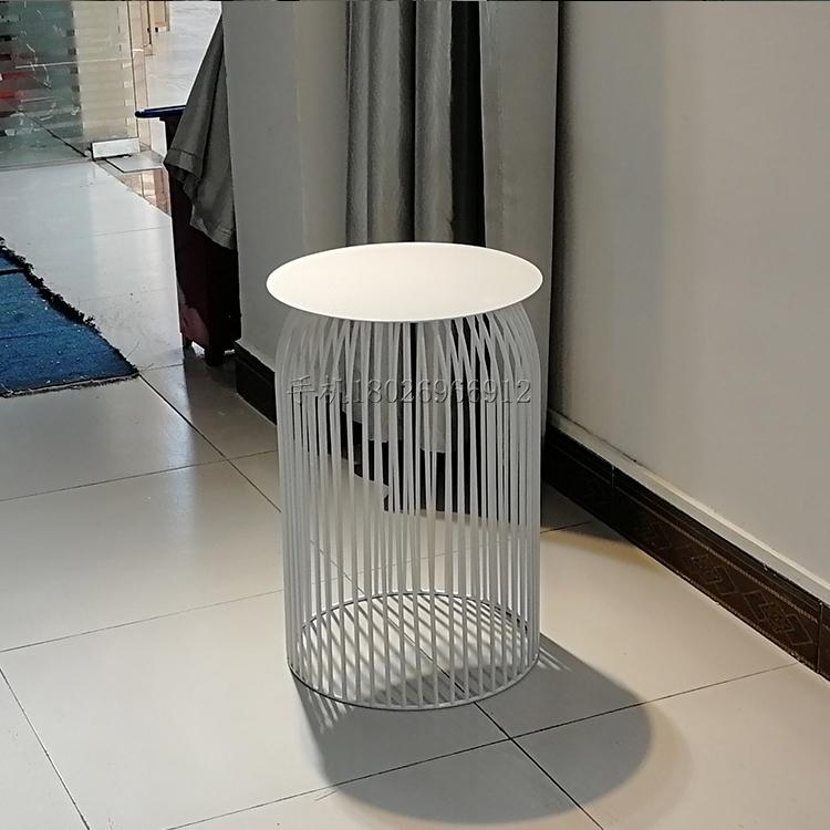 现代简约  北欧铁艺 创意个性 圆形茶几 轻奢小户型客厅边角几