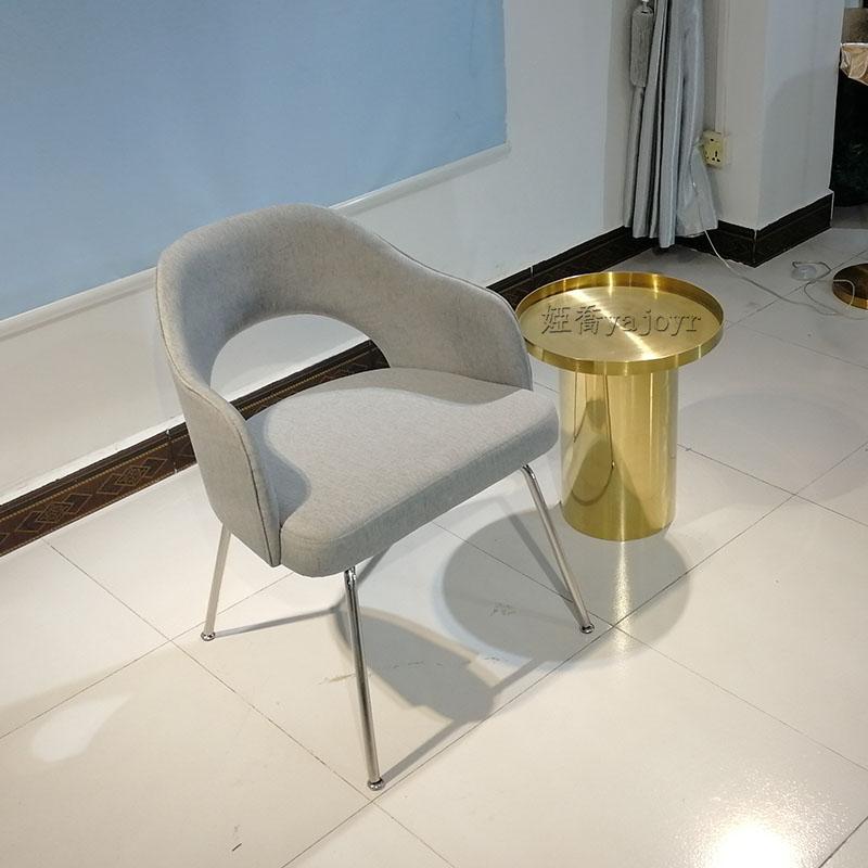 设计师 沙里宁餐椅 设计 现代简约不锈钢高脚凳客厅 咖啡店 餐厅餐椅