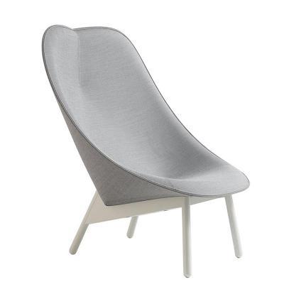 飞机椅贝壳微笑沙发躺椅休闲洽谈咖啡厅设计师板创意北欧实木椅子