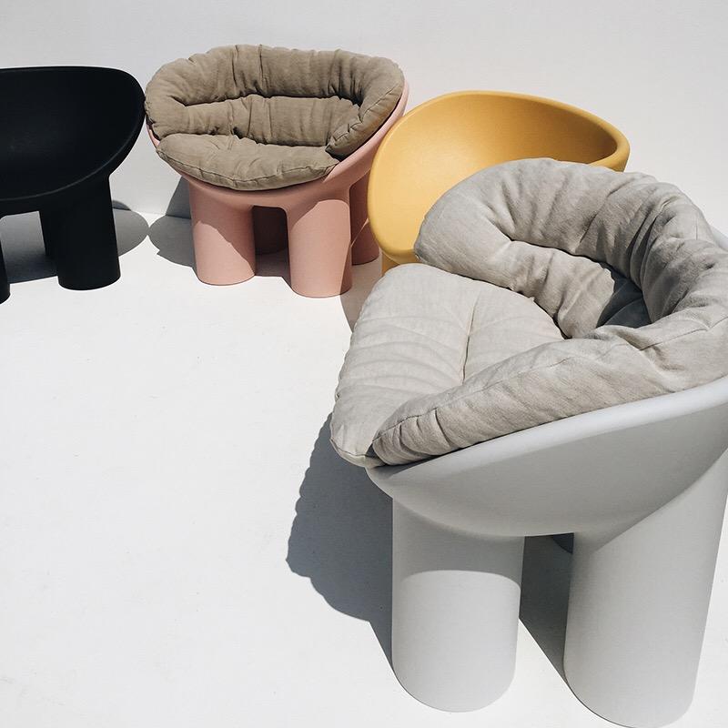 玻璃钢家具 意大利Driade toogood roly poly大象腿椅胖腿椅玻璃钢椅设计师椅儿童椅