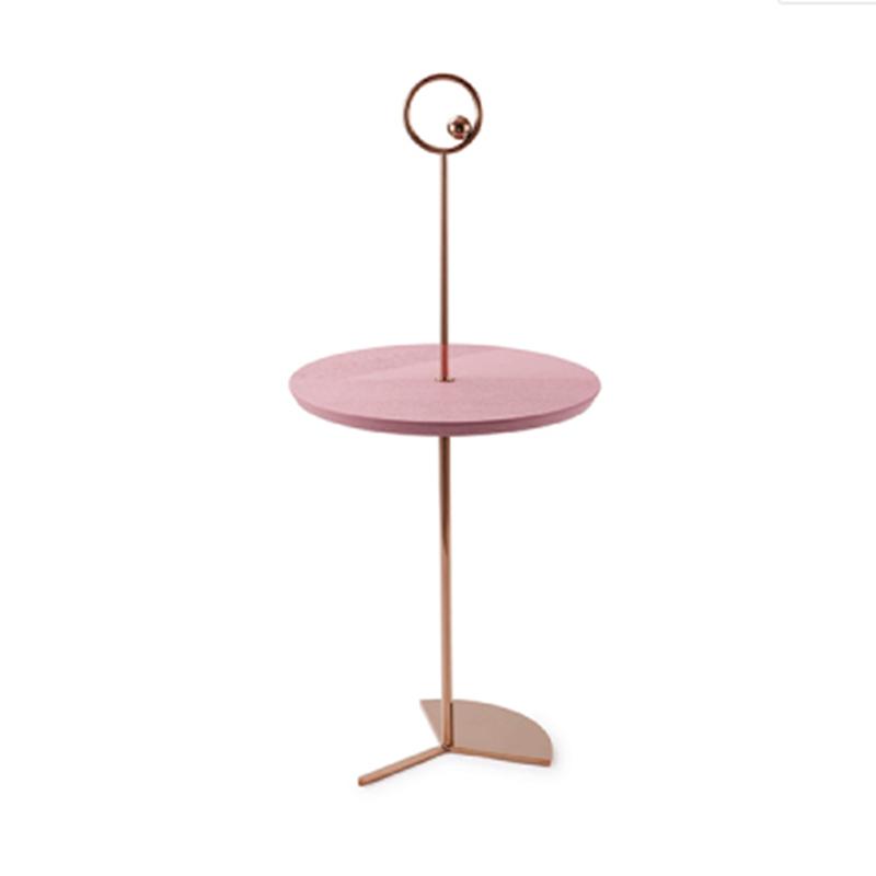 复古北欧铁艺创意沙发小茶几 高端展示客厅卧室办公室样板房房屋小边几