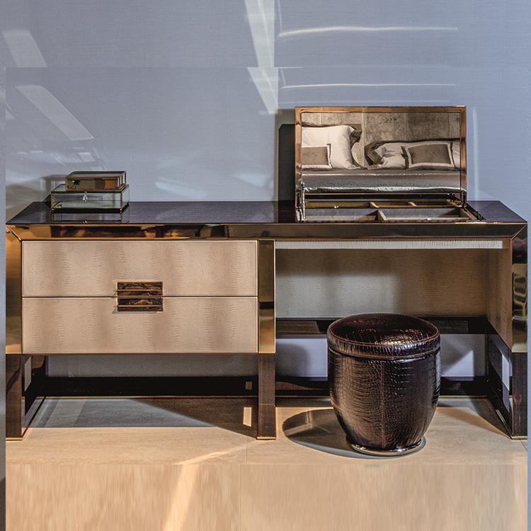 北欧实木柜台梳妆台化妆台书桌高端家具定制意式简约现代