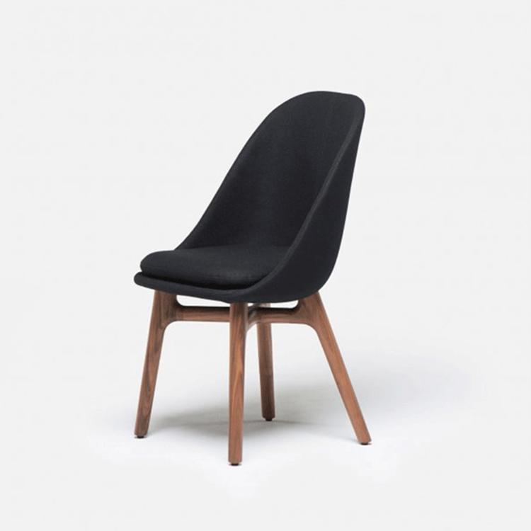 设计师餐椅 休闲椅 时尚小贝壳椅 咖啡厅椅 酒店餐椅玻璃钢实木椅